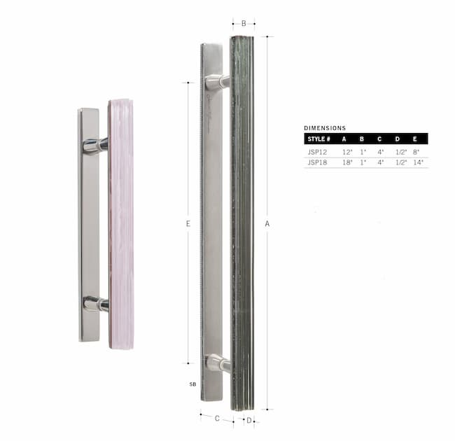 Shower Door Double Handle 18in.
